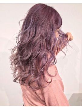 パープルピンクアッシュ ヘアカラー ピンクアッシュ 髪 カラー