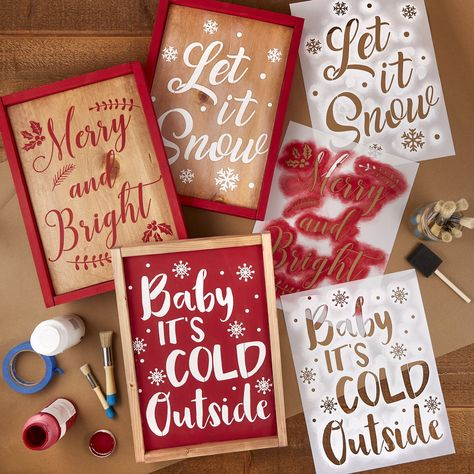 Christmas Sign Stencils (3 Pack)