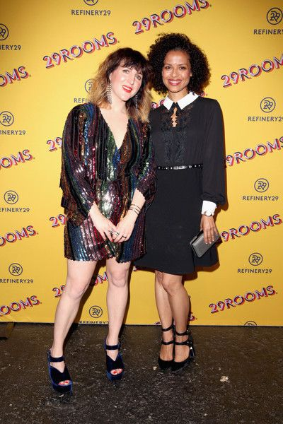 Co-Founder and Executive Creative Director of Refinery29, Piera Gelardi (L), and Gugu Mbatha-Raw (R) attend Refinery29's 29Rooms San Francisco: Turn It Into Art Opening Party 2018.