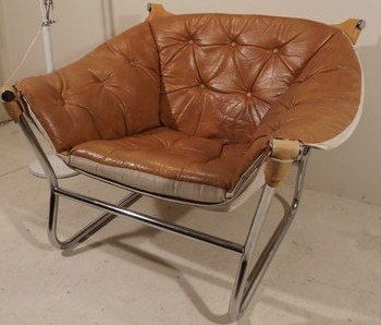 70s Mid Century Danish Modern Chrome Leather Lounge Chair Eames Re Mathsson 550 00 Via Etsy Living Room Pinterest