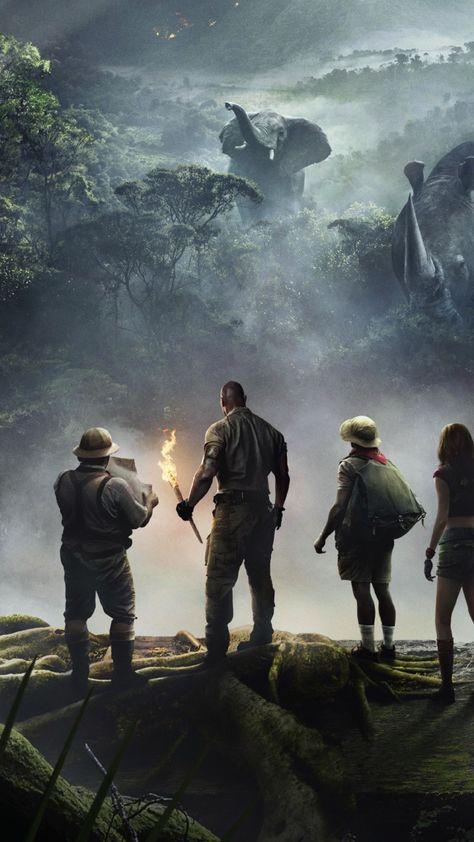 Cast, Jumanji: Welcome to the Jungle, 2018 movie, jungle, 720x1280 wallpaper