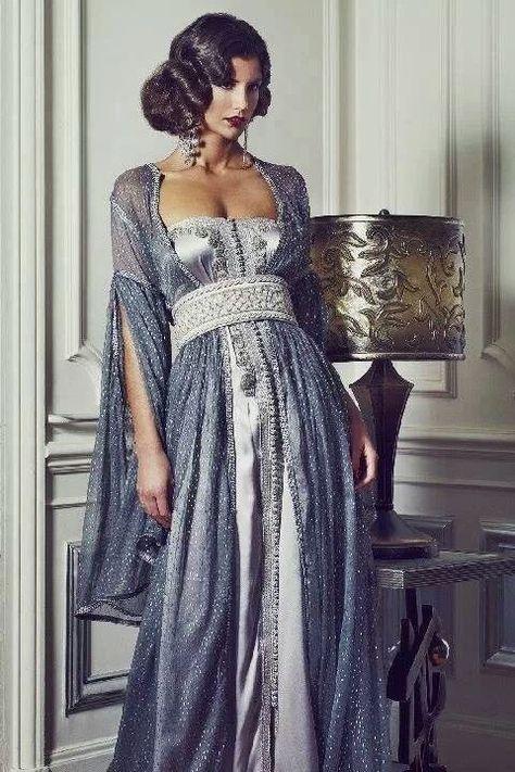 Maghreb - Green and Gold Majestic Caftan Morrocan Dress, Moroccan Caftan, Morrocan Fashion, Arabic Dress, Fantasy Dress, Mode Inspiration, Marchesa, Mode Style, Beautiful Gowns
