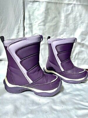 Little Girls Purple Snow Boots Size
