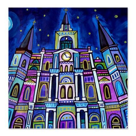 St Louis Cathedral Shower Curtains French By Heathergallerart