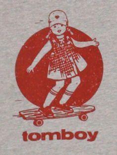 Vintage skateboard longboard tee from Tomboy Vintage