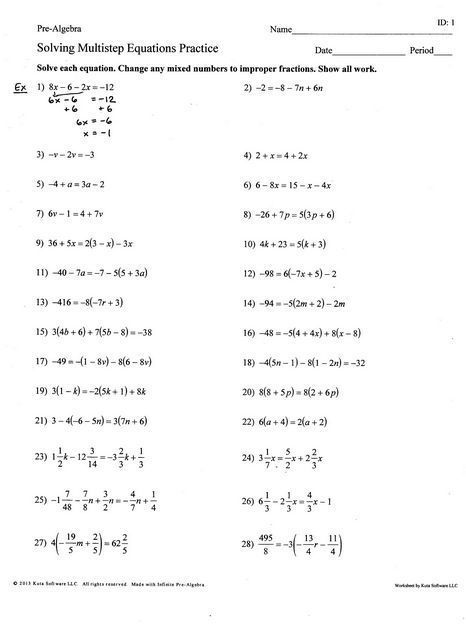 24 Solving Two Step Equations Worksheet Answer Key With Images Solving Multi Step Equations Two Step Equations Multi Step Equations