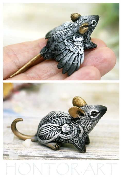 Polymer clay figurines collection of 800+ miniatures of fantasy creatures, beasts and aliens. Christ