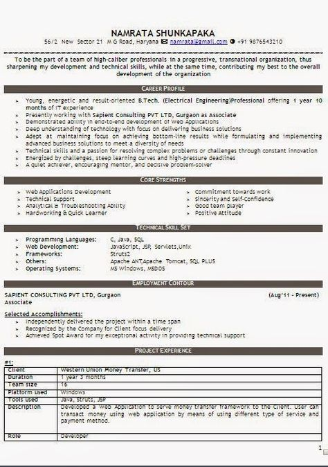 designs for resume Sample Template Example ofExcellent Curriculum - production support resume