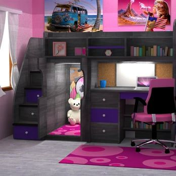 Loft Bed With Desk The Brick Rooms Houses In 2019 Bedroom Bunk