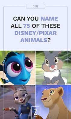 Can You Name All 75 Of These Disney/Pixar Animals? | disney