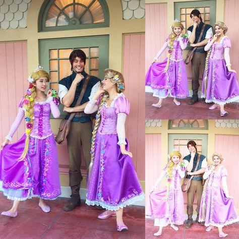 Rapunzel : P144 Tangled Rapunzel Cosplay Costume women Princess ...