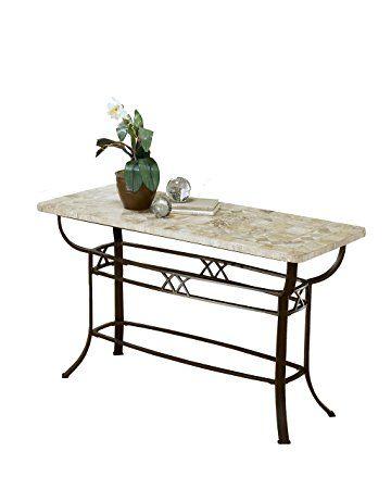 Surprising Hillsdale 4815Ots Brookside Fossil Stone Sofa Table Brown Spiritservingveterans Wood Chair Design Ideas Spiritservingveteransorg