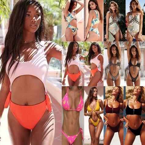 bbe5f056d2 $8.69 - Womens High Waist Swimsuit Retro Bikini Vintage 50S Pinup Girl  Bathing Suit #ebay #Fashion