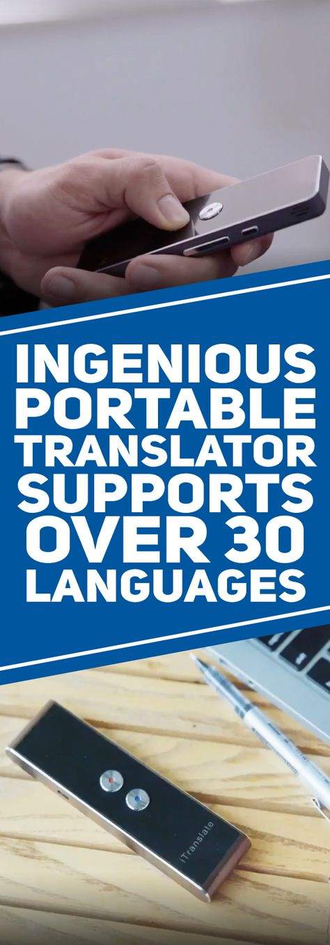 This genius, Multi-Language Portable Smart Voice Translator is capable of translating your words in as little as 0.2 seconds and repeating them instantly, in another language. What makes this portable translator even more impressive is that it supports more than 30 different languages, making this awesome product a must have for world travelers!