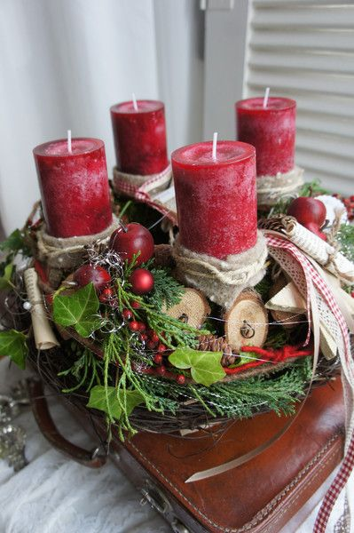 Großartig 346 Best Adventskränze Natur Images On Pinterest | Christmas Decor,  Christmas Time And Natal