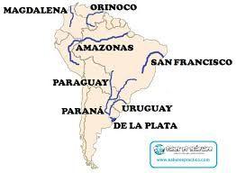 En Este Mapa Aprenderás A Situar Los Principales Ríos Y Lagos De América Del Sur Mapas America Del Sur Mapa Interactivo