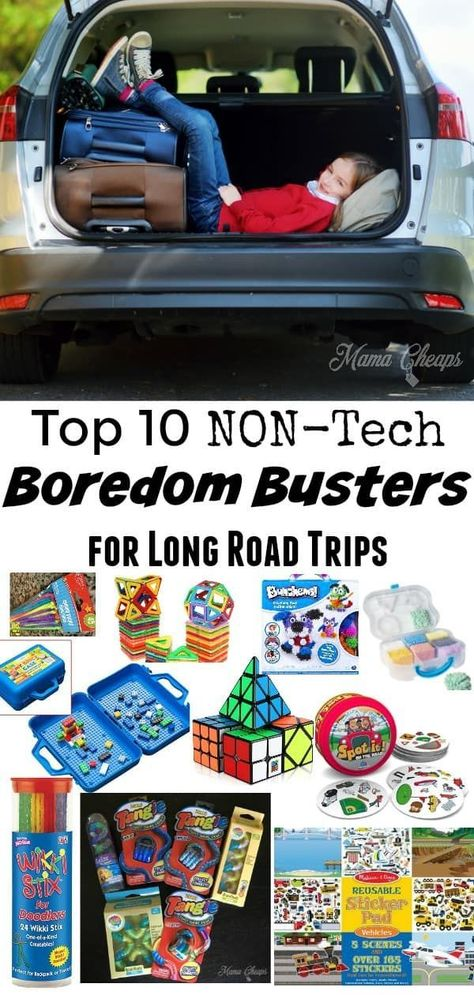 Top 10 NON-Tech Boredom Busters for Long Road Trips | Mama Cheaps