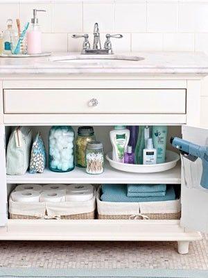 bathroom organization tips by morgan