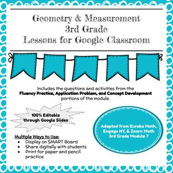 Distance Learning Engageny Grade 3 Module 7 Google Slides Interactive Lessons In 2020 Engage Ny Problem Set Eureka Math