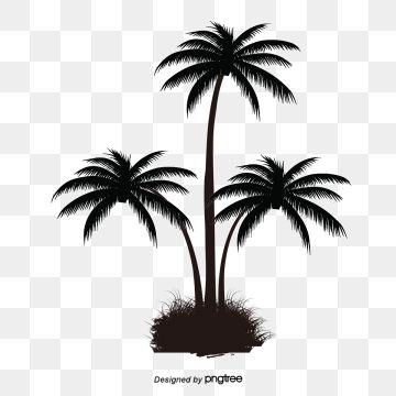 2020 的 Black Palm Tree Pattern Tree Clipart Coconut Tree Grow