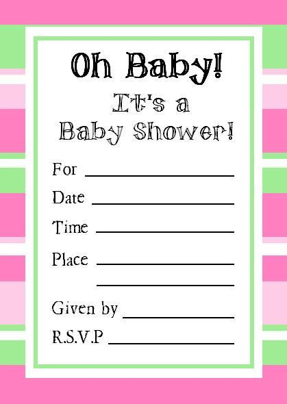 Printable Shower Invitations another printing option if you have - how to make invitations with microsoft word