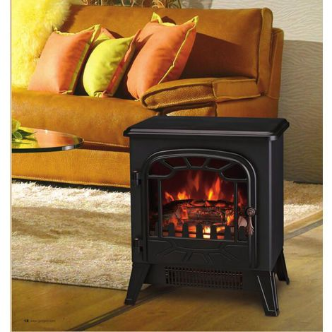 Lincsfire New 1850w Portable Electric Stove Fire Place Fireplace Heater Freestanding Log Burning Flame Effect 2 Heat Settings 409efs186 Free Standing Electric Fireplace Best Electric Fireplace Fireplace Heater