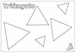 Ficha-triángulos-para-repasar-y-colorear-niños | Figuras ...