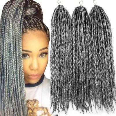 Vrhot 6packs 18 Box Braids Crochet Hair Small Synthetic Hair Extensions Dreadlocks Twist Crochet Braids Hairstyles Box Braids Styling French Braid Hairstyles