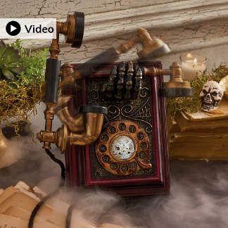New Halloween Decorations New Halloween Haven Decor Grandin Road Antique Phone Antique Telephone Hanging Witch