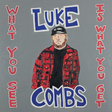 Luke Combs What You See Is What You Get Vinyl Luke Combs' highly anticipated new album, What You See Is What You Get adds to an already monumental year Country Music Artists, Country Songs, Country Musicians, Music Album Covers, Music Albums, Ghetto Gospel, Kanye West, Carrie, Blue Audio