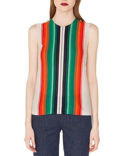 Double Face stripes and silk top