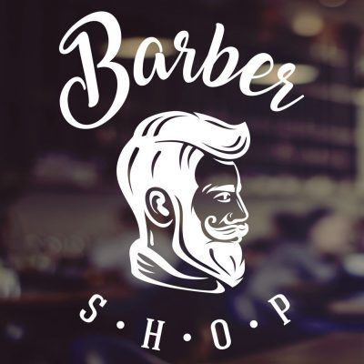 Barber Shop Gentlemens Hair Men Salon Window Vinyl Sign Sticker Lettering Beauty Barber Shop Window Vinyl Vinyl Signs
