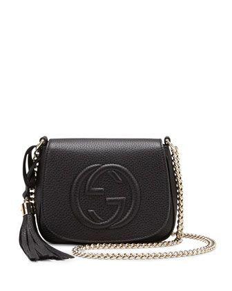 435ac2f7c9add2 Gucci Soho Leather Chain Crossbody Bag, Black on shopstyle.com #purse  #handbag #gucci | - Carry With Me - in 2019 | Gucci crossbody bag, Chain  crossbody bag ...