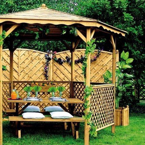 Kiosque De Jardin En Bois Pour Un Coin Lecture Repos Romantique