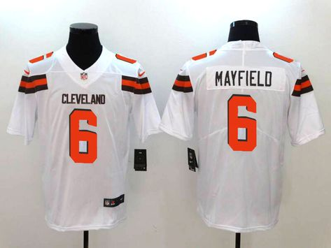 dd591f3c0 Nike Browns 6 Baker Mayfield White Vapor Untouchable Limited Jersey ...