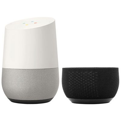 Google Home With Adreama Speaker Cover White Slate Black Google Home Slate Cover