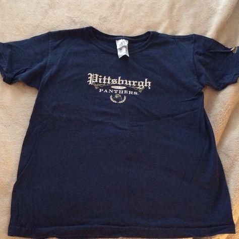 University of Pittsburgh Panthers Navy T-Shirt Pitt Panthers T-Shirt Adidas Tops  Tees - Short Sleeve 9151b353a