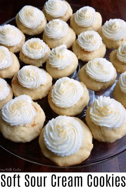 Soft Sour Cream Drop Cookies In 2020 Sour Cream Cookies Butter Cream Drop Cookies