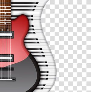 Red Electric Guitar Musical Instrument Piano Fashion Electric Guitar And Piano Keyboard Transparen Red Electric Guitar Electric Guitar Black Electric Guitar