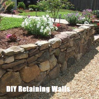 Top 10 Ideas For Diy Retaining Wall Construction Top Cool Diy Stone Walls Garden Landscaping Retaining Walls Landscaping With Rocks
