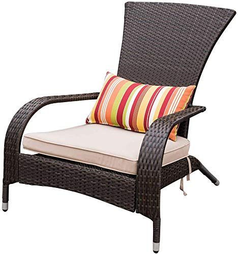 Best Seller Sundale Outdoor Deluxe Wicker Adirondack Chair Patio Yard Furniture All Weather Loung Adirondack Chairs Patio Patio Chairs Yard Furniture