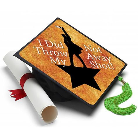 Hamilton - Broadway Show Grad Cap Tassel Topper - Tassel Toppers - Professionally Decorated Grad Caps