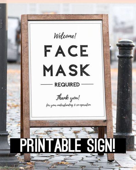 Face Mask Sign Face Masks Required Please Wear A Face Mask Etsy In 2020 Printable Signs Face Mask Lettering