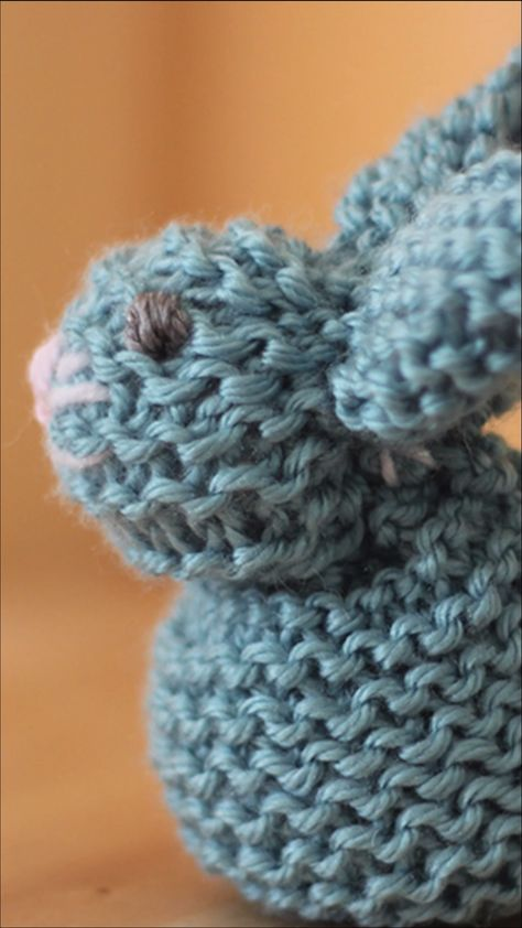Knit a Bunny from a Square from an easy knit stitch pattern! Learn to make this adorable little bunny easily shaped from a square knit in the simplest of knitting patterns, the Garter Stitch. From just a knitted square you will be able to create the stuffed softie animal shape of a Bunny. #StudioKnit #knittingvideo #knittingpattern #bunnyfromasquare