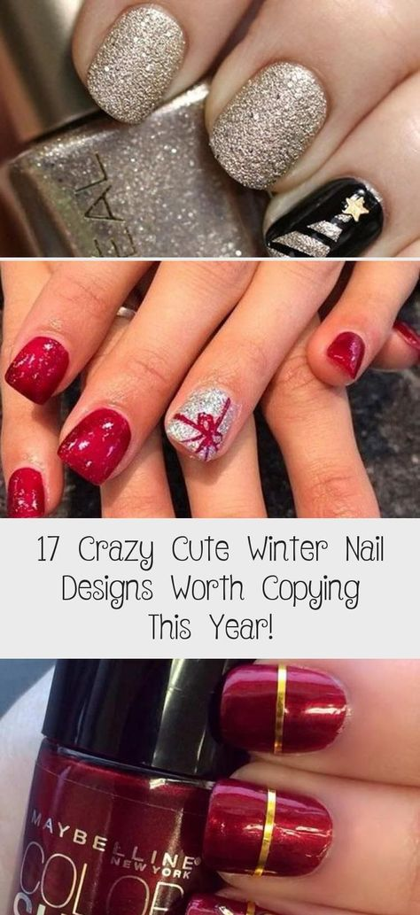 17 Crazy Cute Winter Nail Designs Worth Copying This Year! - Nail Art #Art #copying #crazy #Cute #designs #Nail #Winter #worth #Year