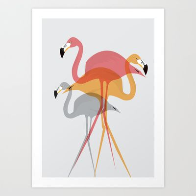 Flamingo+Art+Print+by+Ailsa+Ash+-+$14.56