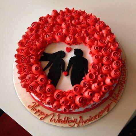 photo cake design for anniversary Pin auf Aniversary cakes