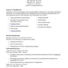 Customer Service Manager Resume Sample Customer Service Call Call