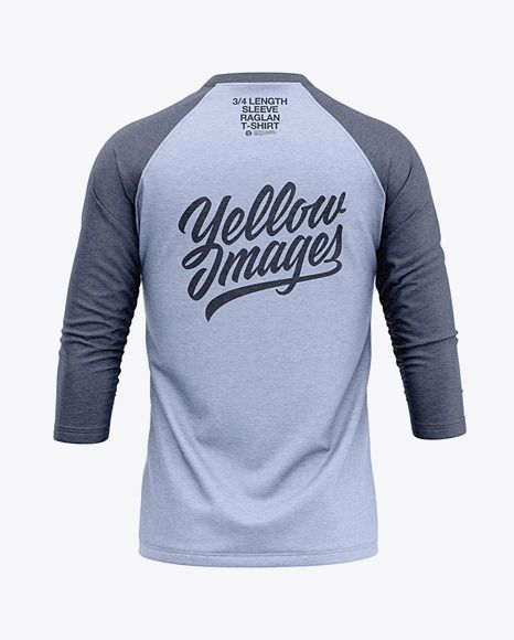Download Men S Heather Raglan 3 4 Length Sleeve T Shirt Mockup Back View Heather Length Longsle Shirt Mockup Clothing Mockup Tshirt Mockup