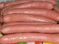 Homemade Hot Dogs Recipe - Never gonna make these, but it looks like a fun recipe. -wa